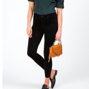 Francesca's Harper Black Velvet Skinny Jeans Sz 28